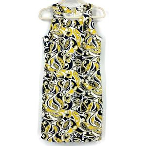 Banana Republic Paisley Shift Dress With Pockets